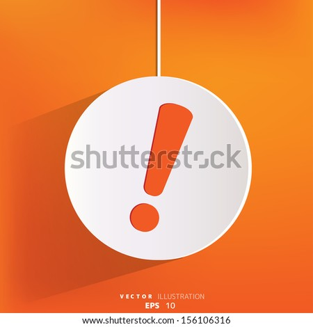 Exclamation danger web icon - stock vector