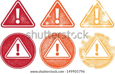 Exclamation Mark Alert Icons - stock vector