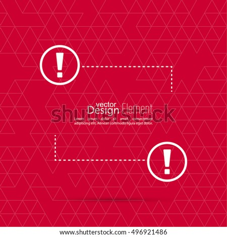 Exclamation Mark Blank Template Attention Sign Icon Empty Vector Form Information Text