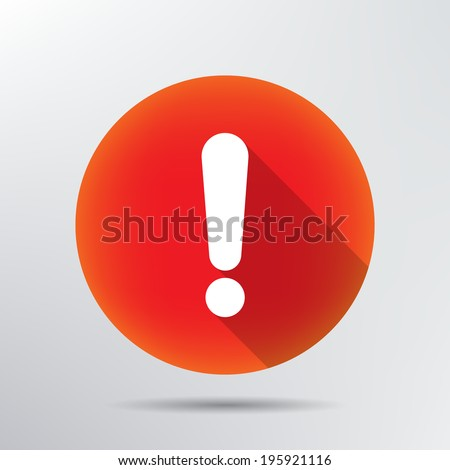 exclamation mark icon.  - stock vector