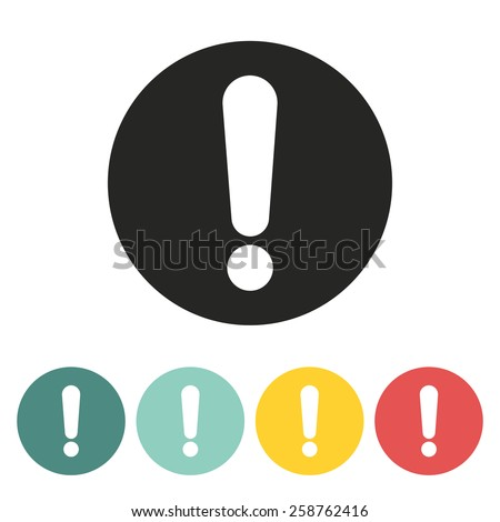 Exclamation mark icon.Vector illustration. - stock vector