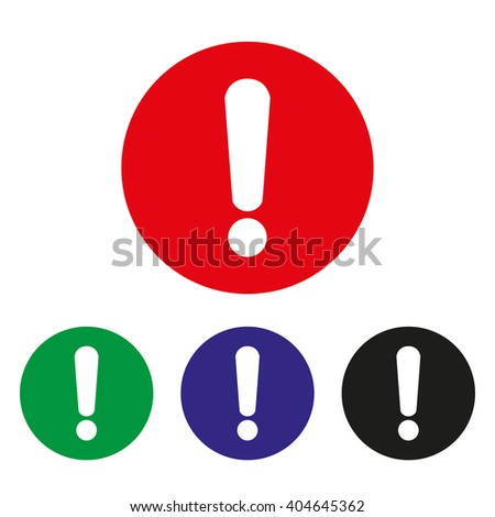 Exclamation  mark set of icons.Vector illustration. - stock vector