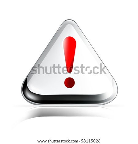 Exclamation mark, vector icon - stock vector
