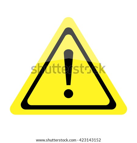 Exclamation mark. Warning Sign.Vector.Art. - stock vector