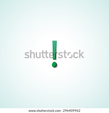 Exclamation mark  web icon on white background - stock vector