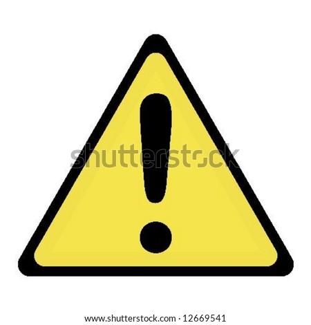 exclamation sign - stock vector