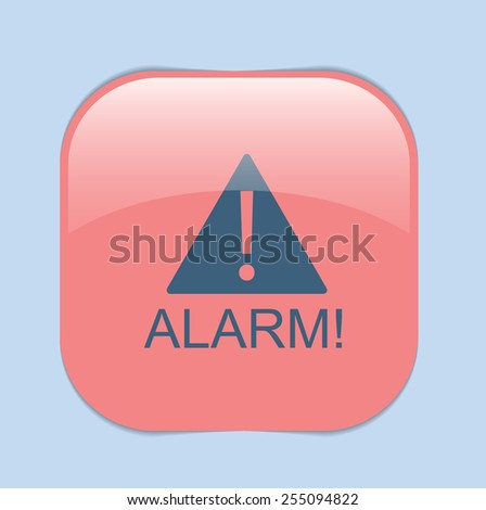 Exclamation Sign icon, alarm sign - stock vector