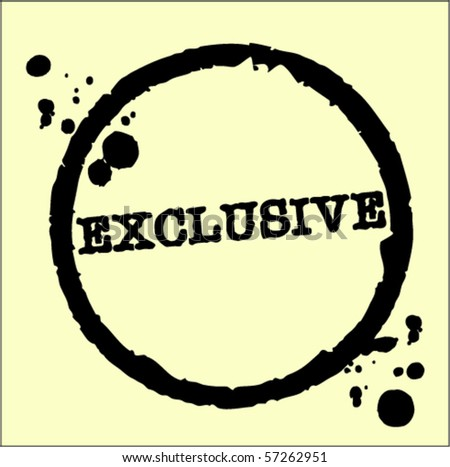 exclusive abstract grunge rubber stamp - stock vector