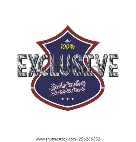 exclusive badge - stock vector