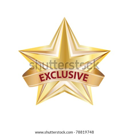 exclusive badge - eps8 - stock vector