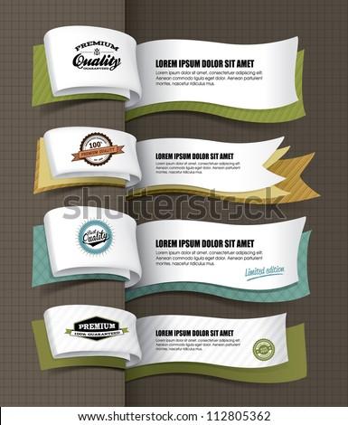 exclusive banners design - stock vector