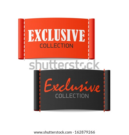 Exclusive collection clothing labels. Vector. - stock vector