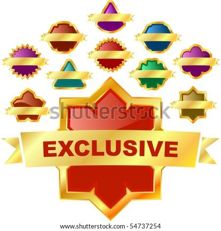 Exclusive emblem. Vector set for sale. - stock vector