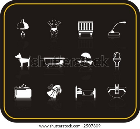 Exclusive Series of Hotel Services Icons. Check my portfolio for much more of this series as well as thousands of similar and other great vector items. - stock vector