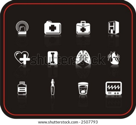 Exclusive Series of Medicine Icons. Check my portfolio for much more of this series as well as thousands of similar and other great vector items. - stock vector