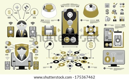 exclusive set of infographics - stock vector