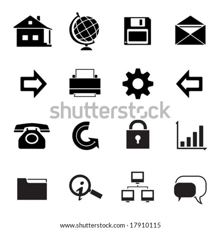 exclusive website & Internet icons (black series) - stock vector