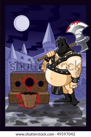 Executioner - stock vector