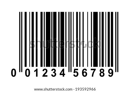 Exemplar for Barcode with fake numbers - stock vector
