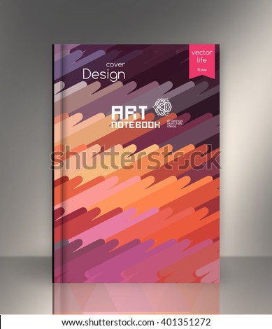 Exercise book cover, Layout book cover. Design Cover for exercise book. Colored exercise book cover. Book cover  design. Cover design for the exercise book, ebook, datebook, book. Sample book cover.  - stock vector
