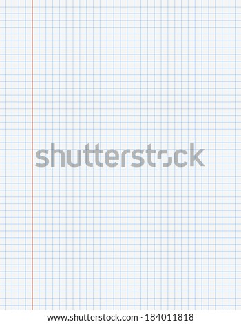 Exercise Book Paper One Page Square Stock Vector HD (Royalty Free ...