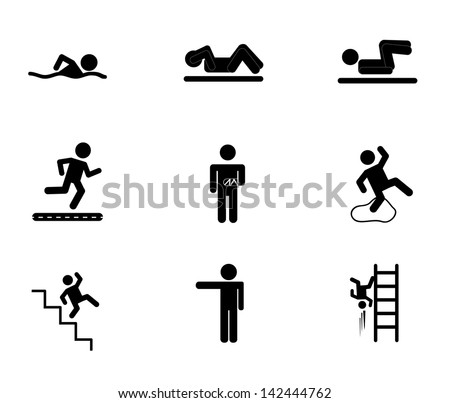 exercise icons over white background vector illustration