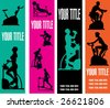 Exercise Web Banner Vector Templates for a Health Club or Gymnasium - stock vector