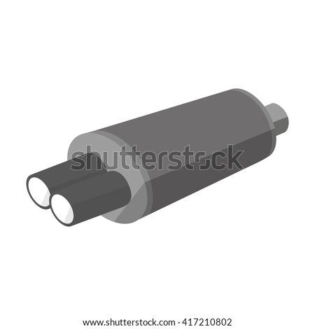 exhaust pipe icon on white background - stock vector