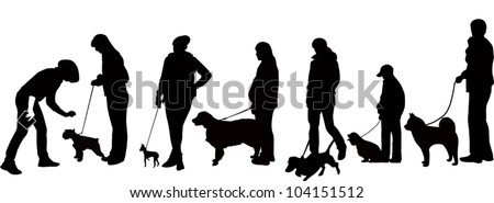 exhibition of dogs animals display a vector it is isolated on a white background