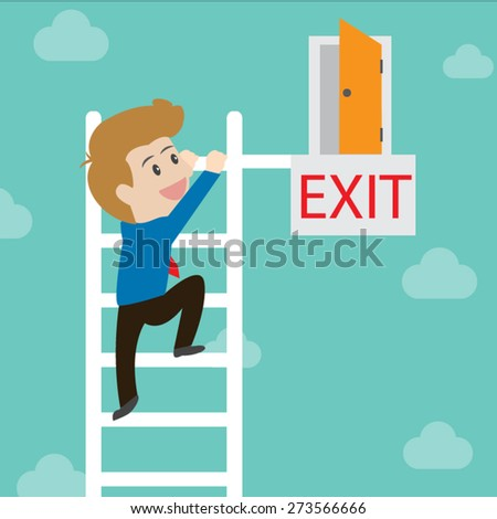 Exit (business concept) - stock vector