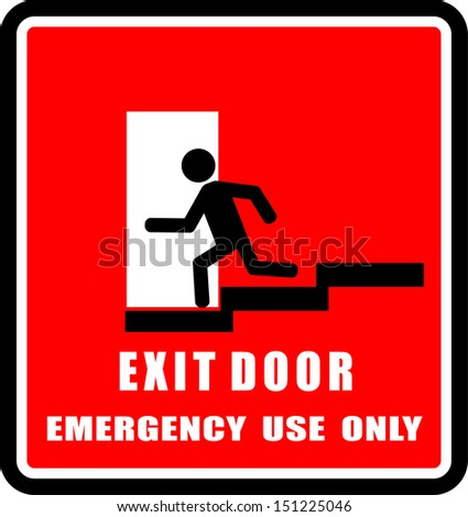 Exit Door - stock vector