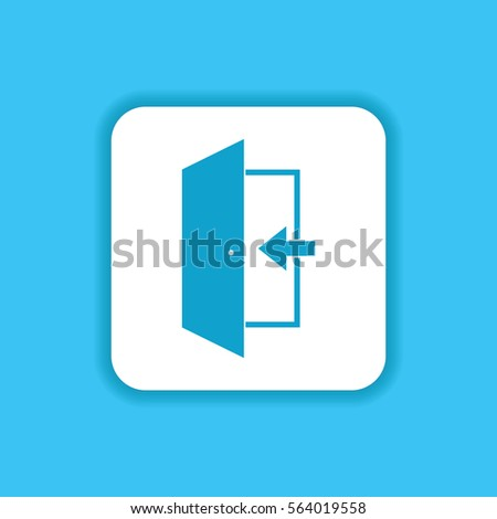 Exit Emergency Icon Door Symbol Mobile Stock Vector 564019558