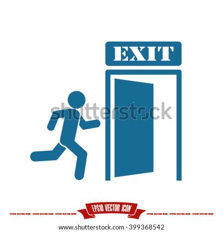 exit icon, exit icon eps10, exit icon vector, exit icon eps, exit icon jpg, exit icon picture, exit icon flat, exit icon app, exit icon web, exit icon art, exit icon object, exit icon AI - stock vector