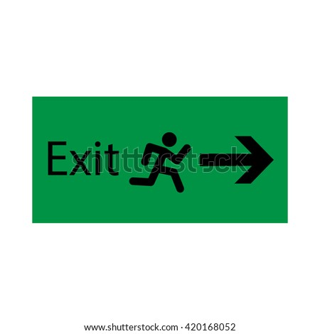 Exit sign - stock vector