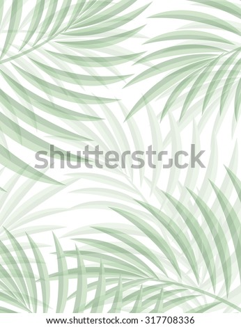 Exotic background with palm leaves for design in hipster style. The leaves in the background. Leaves of palm tree. Silhouette of palm leaves. Hipster background. Background for advertising - stock vector