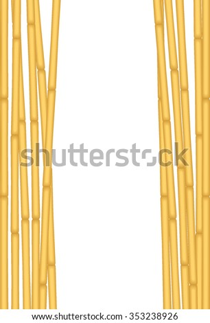 Exotic Bamboo on White Background. Vector Illustration of a Bunch Bamboos Isolated on White for using as Background - stock vector