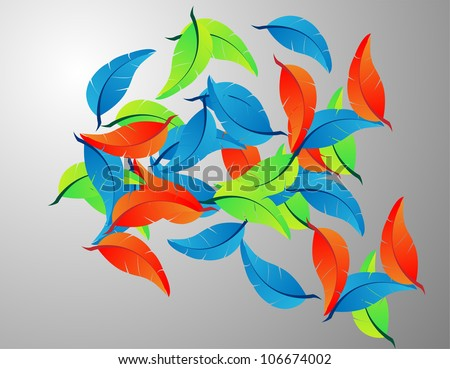 Exotic feather. Vector seamless bright texture - stock vector