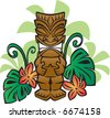 Exotic Tiki God - stock vector