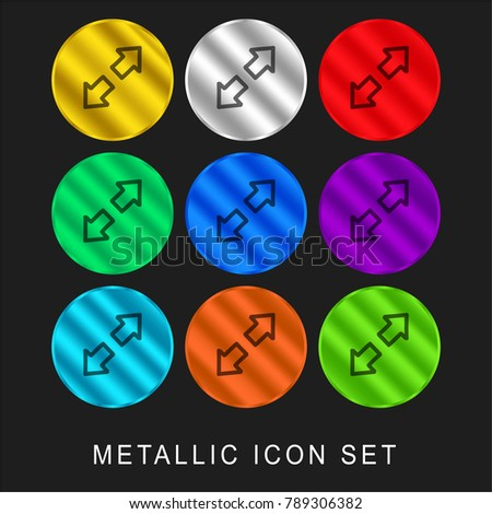expand hand drawn interface symbol two stock vector 789306382