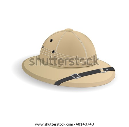 Expedition hat - stock vector