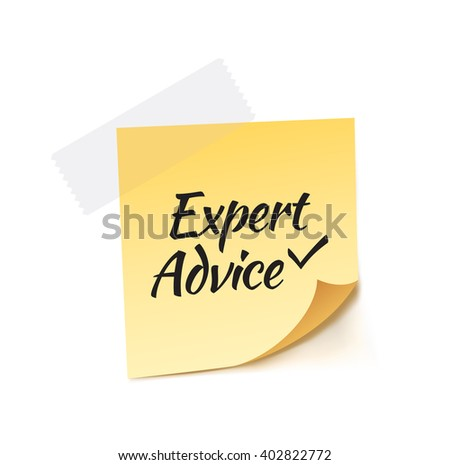 Expert Advice Stick Note Vector Illustration