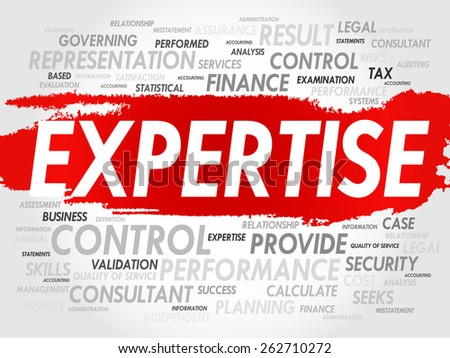 EXPERTISE word cloud, business concept - stock vector
