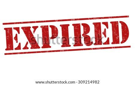 Expired grunge rubber stamp on white background, vector illustration - stock vector