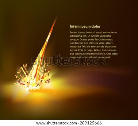 exploding meteor - stock vector