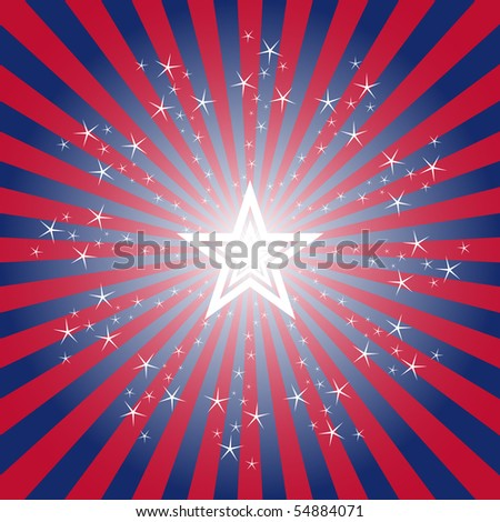 Exploding Patriotic Star Burst