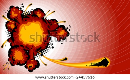 Explosion - stock vector