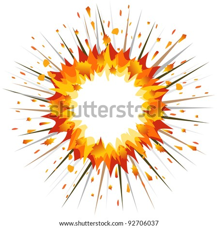 Explosion. - stock vector