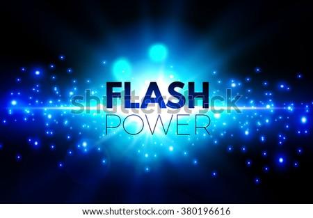 Explosion Background with Light & Bokeh. Power & Light Design. Vector illustration - stock vector