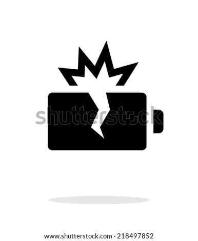 Explosion battery simple icon on white background. Vector illustration. - stock vector