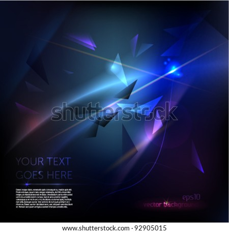 Explosion in space /  Dark Colorful Design Template With Glowing lights and Sparkles  / EPS10 Vector Background - stock vector